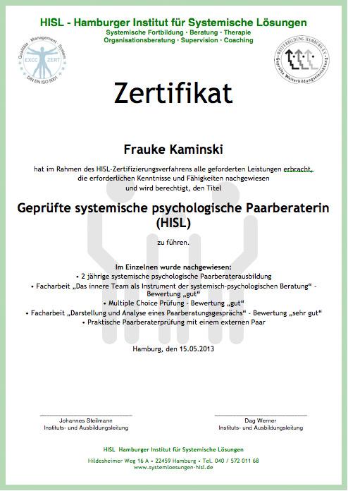 Systemischer Paarberater - Hamburger Institut für systemische Lösungen